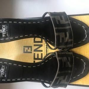 Fendi Zucca Sandals 37